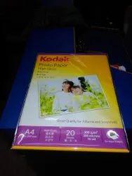 Paper Photo Paper Kodak Inkjet Paper 200 GSM A4 20 Sheets