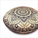 Mandala Round Floor Cushion Cover Cover