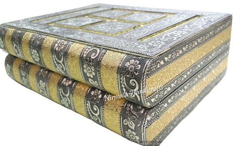 VINTAGE WOODEN JEWELRY BOXES MEENA WORK BOX DECORATIVE BOXES
