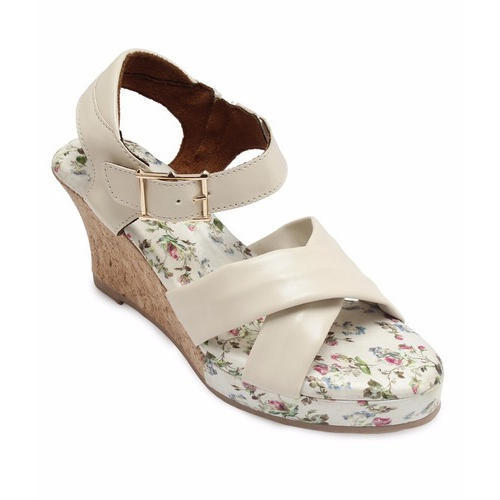 1ddb557c47d19 Colour Me Mad Cork And Leather Ladies Fancy Wedges Sandals, Rs 2700 ...