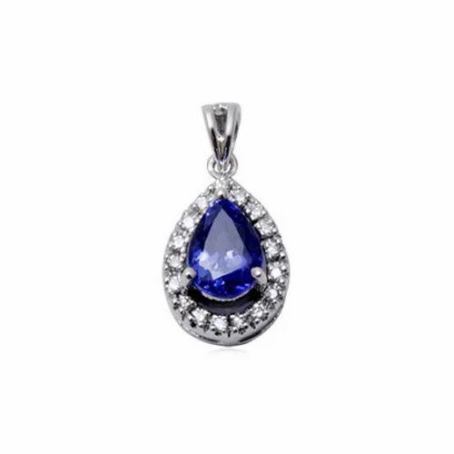 53357fb25a17b Latest Diamond Tanzanite Pendant
