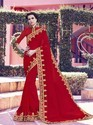Georgette Patch Design Saree