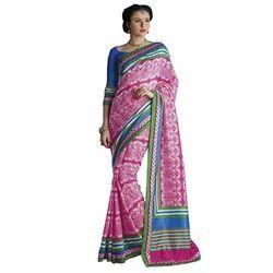RCPC Designer Aces Primo Bhagalpuri Magenta Saree