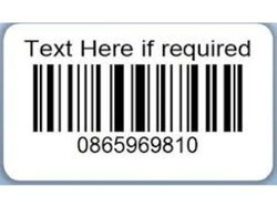 Barcode Adhesive Sticker / Labels  (Pre Printed)