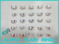 925 Sterling Silver Alphabet Rings