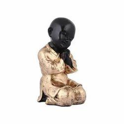 Baby Monk Namaste Statue