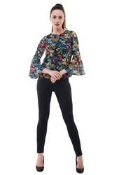 33ff394906857f Multi Colour Floral Bell Sleeves Top at Rs 380 /piece | Fancy Ladies ...
