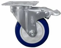 Plate Mounted CI Caster Wheel