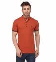 Youthen Men's Dull Orange Mandarine T Shirt