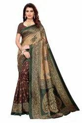 Kalamkari Art Silk Saree with Blouse