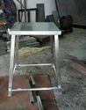 Shreshtha Ss304 Stainless Steel Square Fix Stool, For Sitting, Size: 20x20 Inch