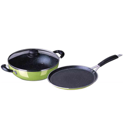Spatter Coated Non-stick Duo Cookware