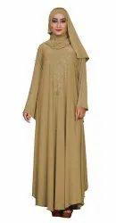 Women's Kaftan Style Umbrella Lycra Abaya Burqa with Hijab