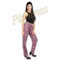 Regular Fit Casual Wear Ladies Rayon Pants, Waist Size: 28 - 32