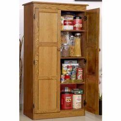 Light Brown Wooden Storage Cabinets