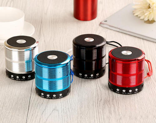Red And Blue Ws 887 Mini Bluetooth Speaker With Aux Usb Support