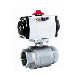 SS Pneumatic Operated BSP End Ball Valve
