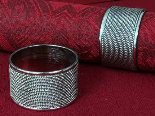 Home arts Metal Royal Napkin Ring, Size: Standard Size