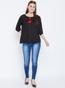 Ladies Black Rayon Top