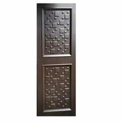 Hinged Black Trapezium Eco PVC Door, For Home, Exterior and Interior