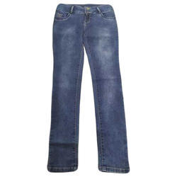Ladies Blue Stretchable Washed Jeans