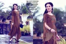 Rachna Fluid Silk Pattern Cut Work Cape Town Catalog Kurti For Women 4