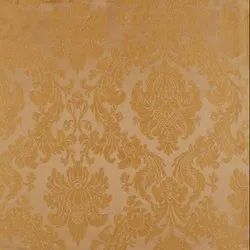 56 inch Gold Flower Curtain Fabric