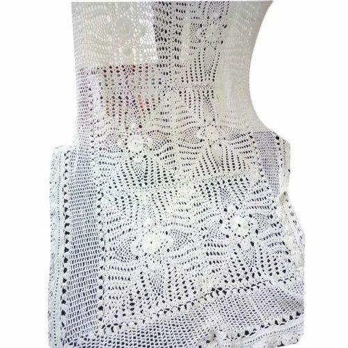 White Crochet Table Cloth