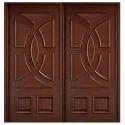 Double Panel Wooden Door
