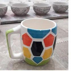 Hexagonal Shape Print Coffee Mug