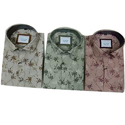 Printed Polo Collar Shirt