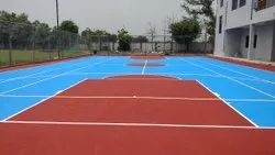 Outdoor Basketball Court Construction Service