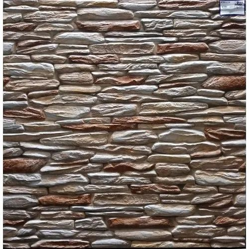 Rustic Stone Ceramic Elevation Tile, Thickness: 5-10 mm