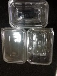 Plastic PET Hing Containers