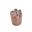 Wooden Floral Textile Henna Printing