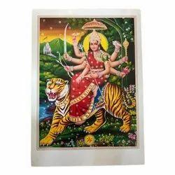 Multicolor Durga Maa Posters, 20*28 Jari