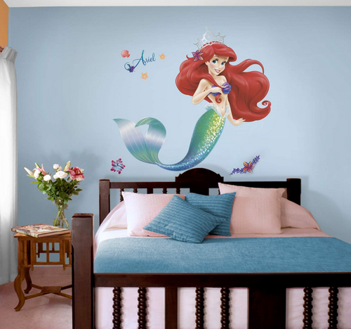 Multicolor Nilaya The Little Mermaid (giant) Wall Stickers