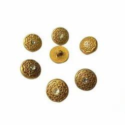 Round Plastic Designer Metal Button, Packaging Type: Packet