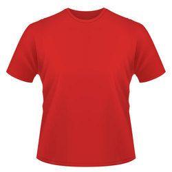 Red Men''s Round Neck T Shirt