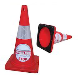 Safety Cones With Rubber Base