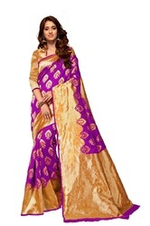Magenta Fancy Silk Sarees