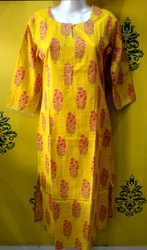 Cotton Mirror Work Kurti S