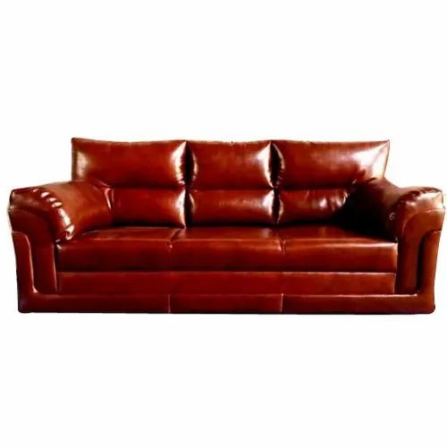 Brown Wooden Modular Leather Sofa Rs