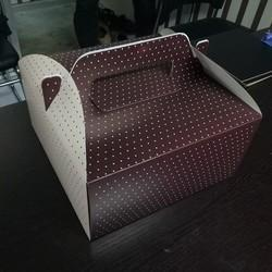 Dot Printed Handle Cake Box