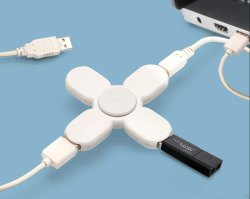 3 USB Hub With Spinner