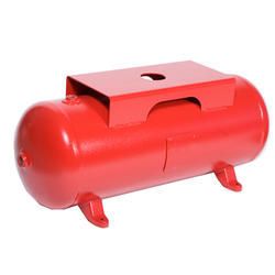 Red Horizontal Air Receiver Tank
