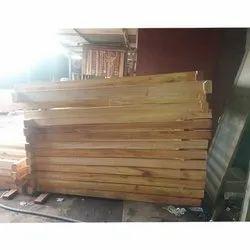 Natural Wood Door frame with doors set