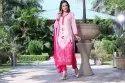 Casual Ladies Pink Printed Cotton Suit, Size: Medium, Handwash
