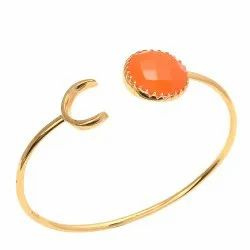 Adjustable Bangle Orange Stone Bangle