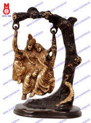 Lord Radha Krishna Swing On Tree Statues